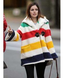 Rachel Bilson Blanket Coat