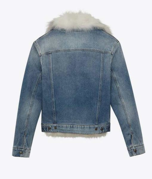 Real Housewives of Salt Lake City Lisa Barlow Fur Lined Denim Jacket