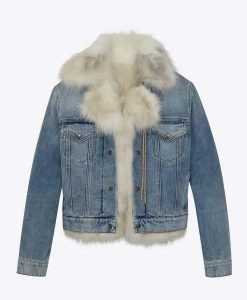 Real Housewives of Salt Lake City Lisa Barlow Fur Denim Jacket