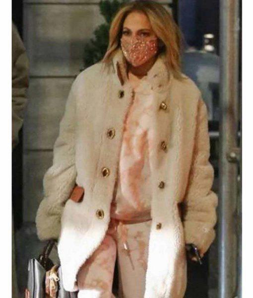 Selena The Series Jennifer Lopez White Fur Coat