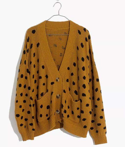 Side Hustle Dot Cardigan Sweater