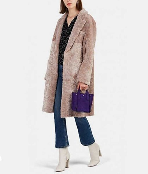 Sutton Foster Younger S06 Liza Miller Shearling Coat