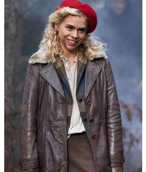 Suzie Pickles I Hate Suzie Billie Piper Brown Leather Coat
