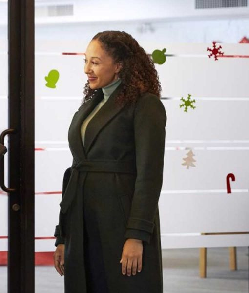 Tamera Mowry-Housley Christmas Comes Twice Coat