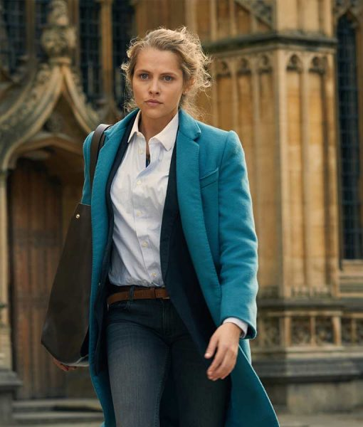 Teresa Palmer A Discovery of Witches Diana Bishop Blue Coat