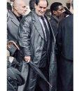 The Batman 2022 The Penguin Black Leather Coat
