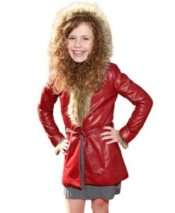 Kate The Christmas Chronicles 2 Darby Camp Premiere Leather Coat