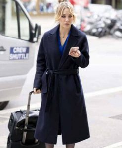The Flight Attendant Kaley Cuoco Black Coat