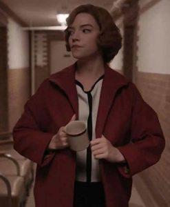 Beth Harmon The Queens Gambit Anya Taylor-Joy Red Coat