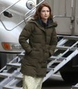 The Stand-In Ellie Kemper Parachute Puffer Coat With Hood
