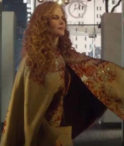 The Undoing Grace Fraser Embroided Cape Coat