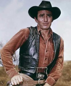 James Drury The Virginian Leather Vest