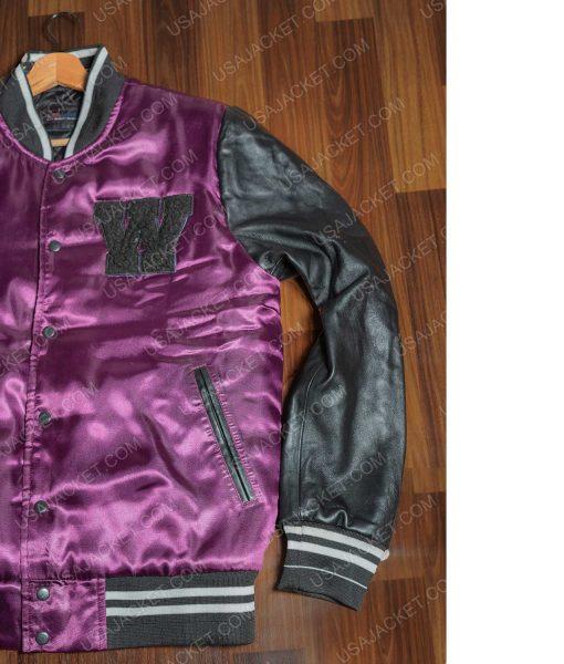 The Weeknd Purple W Logo Letterman Jacket