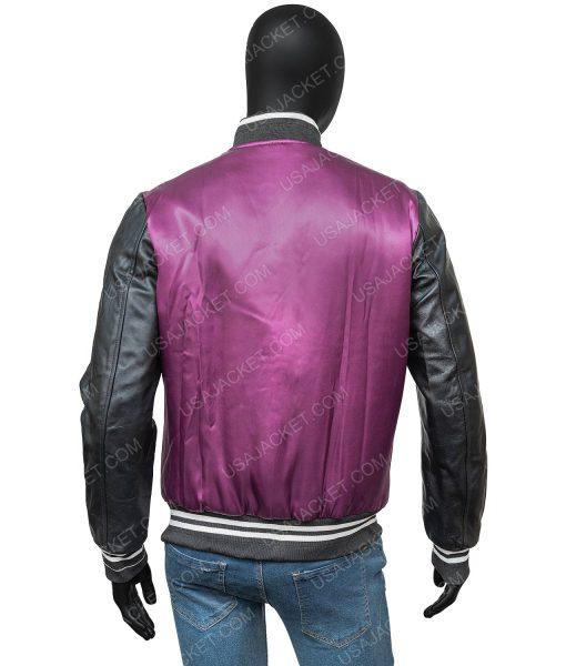 The Weeknd Purple Letterman Jacket