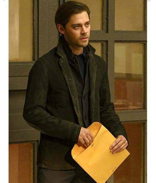 Tom Payne Prodigal Son Malcolm Bright Suede Leather Jacket