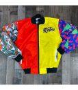 What The 5s Jacket Multicolor Letterman Jacket