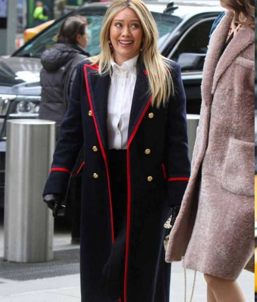 Kelsey Peters Younger Hilary Duff S07 Trench Coat