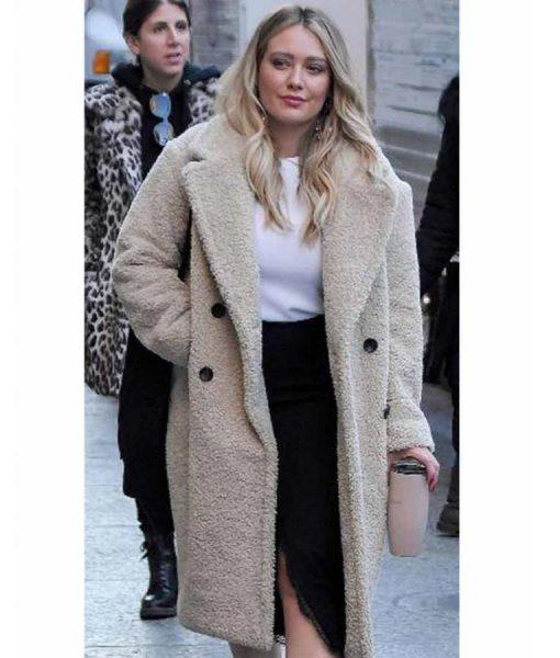 Younger Hilary Duff Season 7 Sherpa Coat