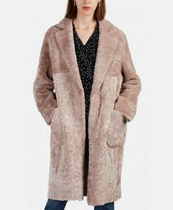 Sutton Foster Younger S06 Liza Miller Pink Shearling Coat