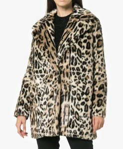 Younger S06 Lauren Heller Cheetah Print Fur Coat
