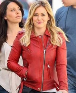 Younger S07 Hilary Duff Red Leather Jacket