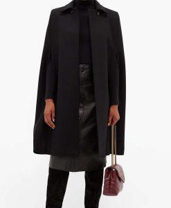 Younger Season 07 Kelsey Peters Black Cap Coat