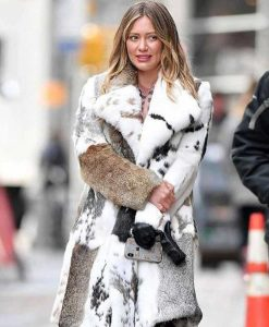 Younger Hilary Duff Season 7 Fur Mixed Coat