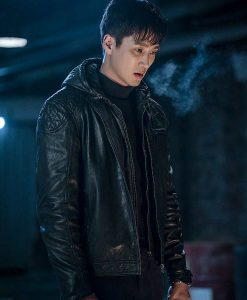 Itaewon Class Jang Geun Won Leather Jacket With Hood