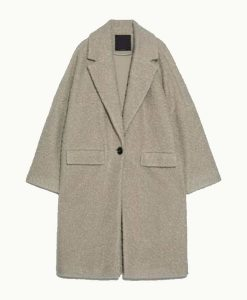 The Flight Attendant Zosia Mamet Sherpa Coat