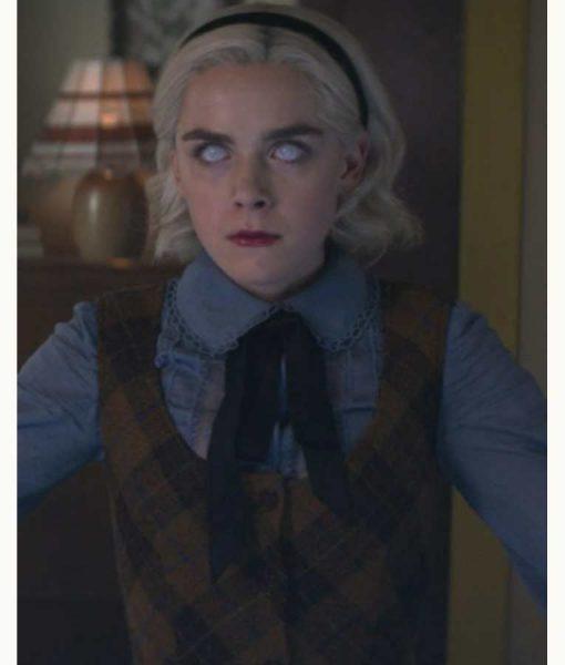 Chilling Adventures of Sabrina Spellman Sleeveless Checkered Sweater