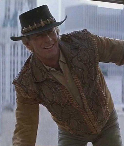 Crocodile Dundee Paul Hogan Mick 'Crocodile' Dundee Leather Jacket