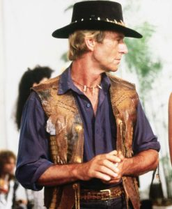 Crocodile Dundee Paul Hogan Crocodile Leather Vest