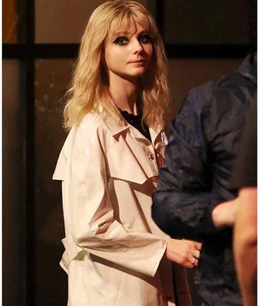Eloise White Leather Thomasin Mckenzie Last Night in Soho Duster Coat