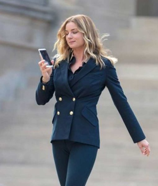 Emily VanCamp The Falcon And The Winter Soldier Blue Peacoat
