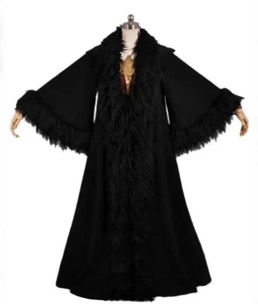 Wonder Woman 1984 Princess Diana Black Cloak With Fur Trim