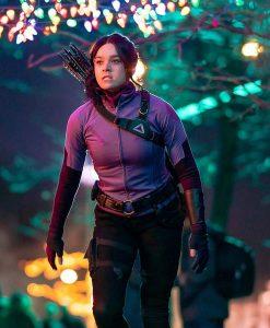 Kate Bishop Hailee Steinfeld Hawkeye 2021 Purple Jacket