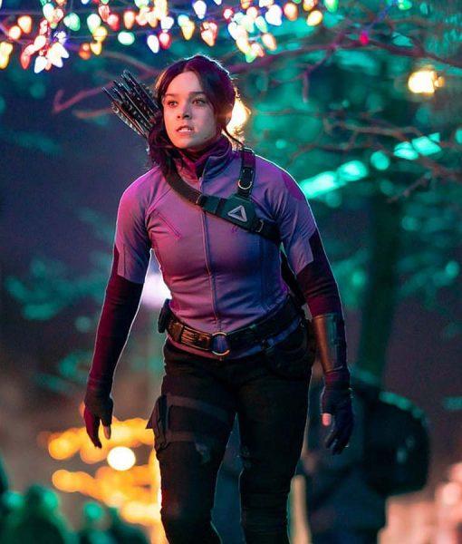 Hailee Steinfeld Hawkeye 2021 Purple Jacket