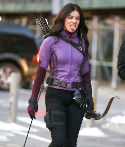 Hailee Steinfeld Kate Bishop Hawkeye 2021 Purple Jacket