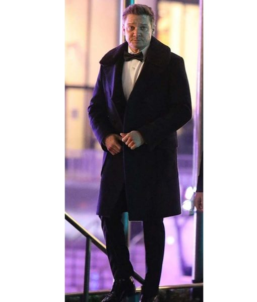 Hawkeye 2021 Black Fur Collar Coat