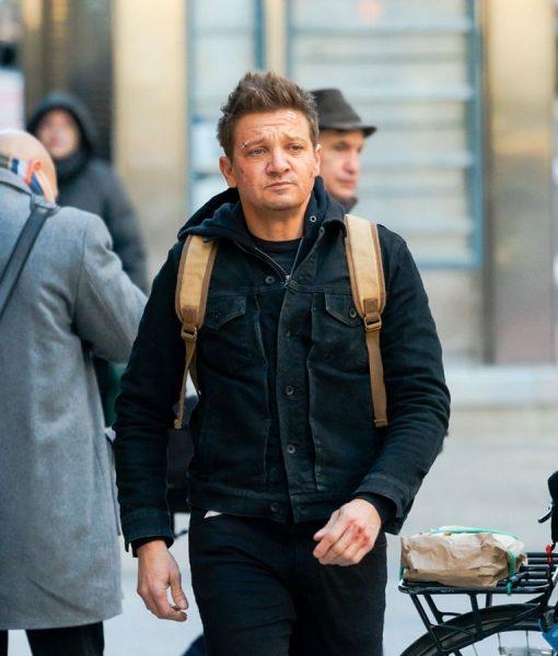 Hawkeye 2021 Jeremy Renner Black Jacket