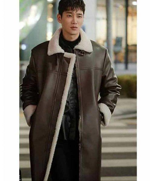 Itaewon Class Jang Geun Won Leather Coat