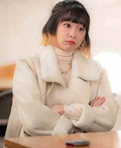 Jo Yi Seo Itaewon Class Kim Da-Mi Off-white Fur Jacket