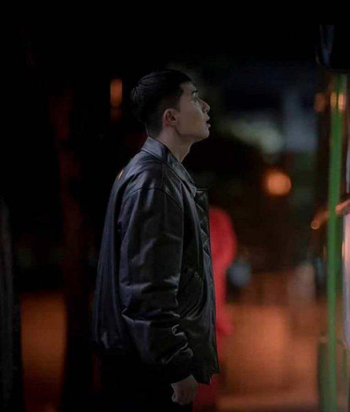 Itaewon Class Park Sae Ro Yi Black Leather Jacket