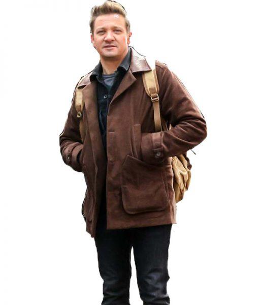 Jeremy Renner Clint Barton Brown Jacket
