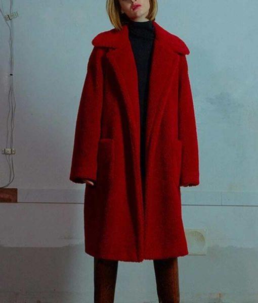 Jo Yi Seo Itaewon Class Kim Da Mi Red Teddy Coat