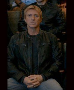 Johnny Lawrence Cobra Kai Season 3 Leather Jacket