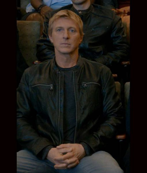 Johnny Lawrence Cobra Kai Season 3 Leather Jacket
