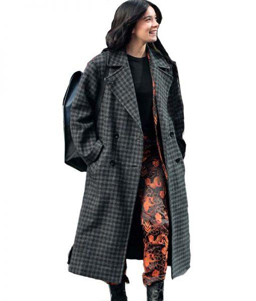 Kate Bishop Hawkeye Check Box Coat
