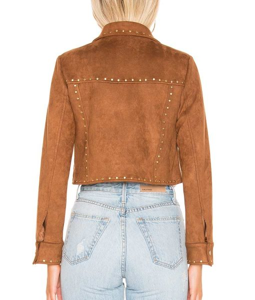 The Young and the Restless Suede Leather Jacket With Studs