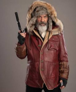 Mel Gibson Fatman Parka Leather Jacket